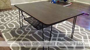 Hairpin Coffee Table | Facebook| $100 | Fairhome Road